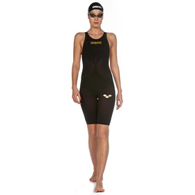 arena Powerskin Carbon Air2 Full Body Short Leg Oper Back Badeanzug Damen black/black/gold